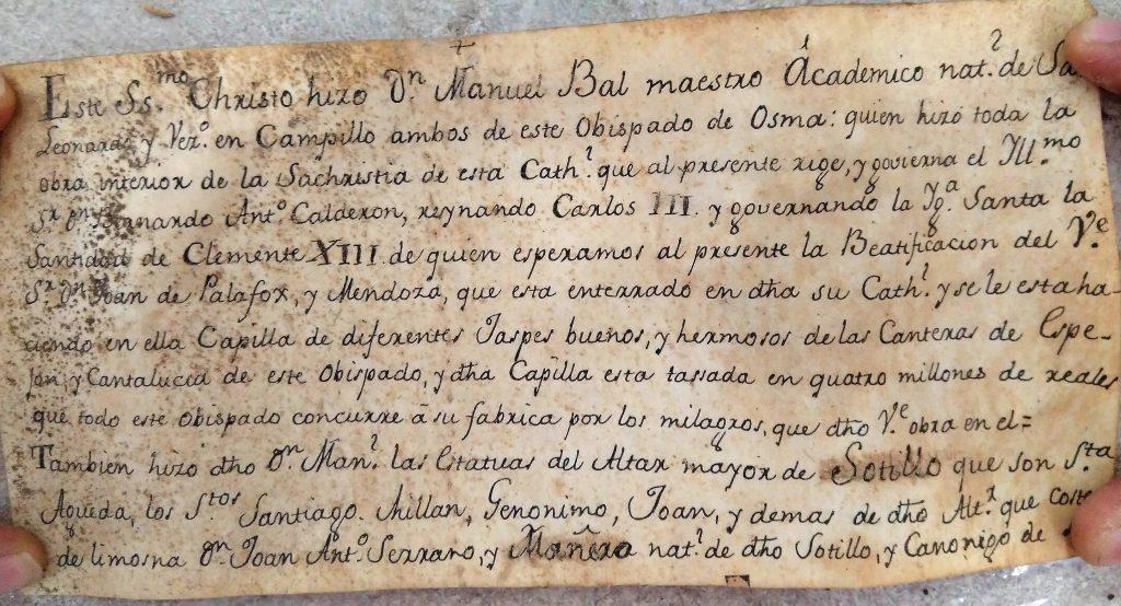 Esta es la transcripción del texto original