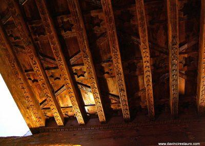 Restauración de artesonado techumbre