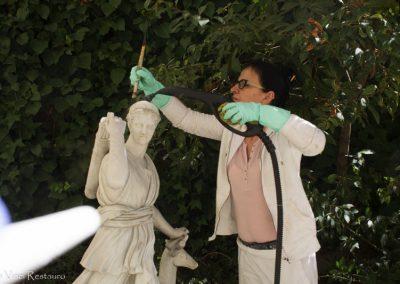 Restauración escultura mármol