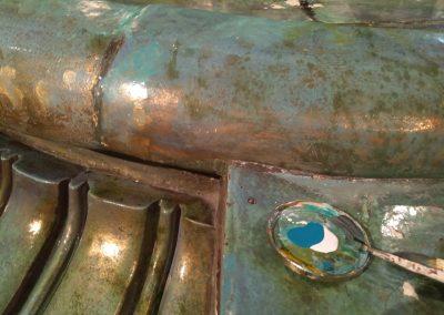 restauración cerámica terracota