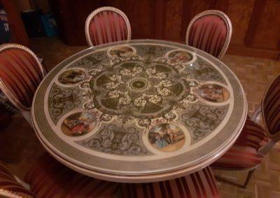 restauración mesa silla