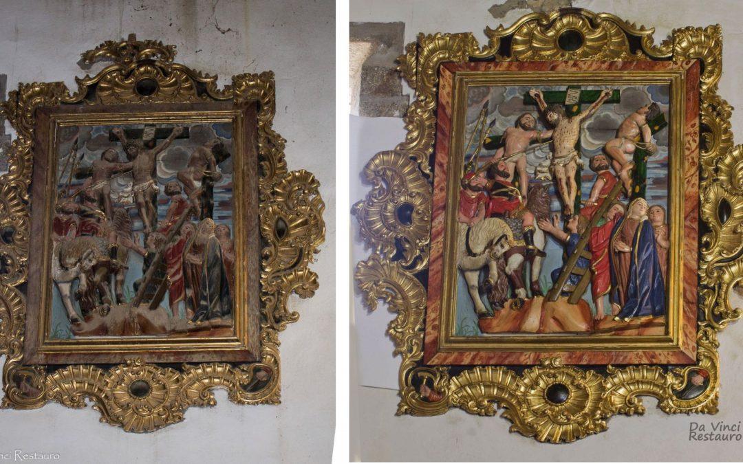 Restauración de lote de Cuadros-Relieve de Otero de Sanabria II