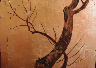 pintura sobre oro técnica japonesa