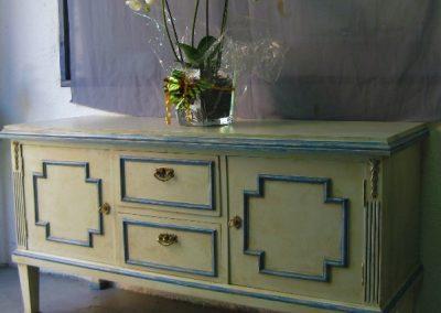 Muebles pintados con pátina de envejecimiento