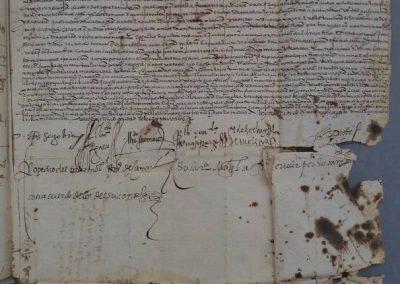 restauración de manuscritos. antes