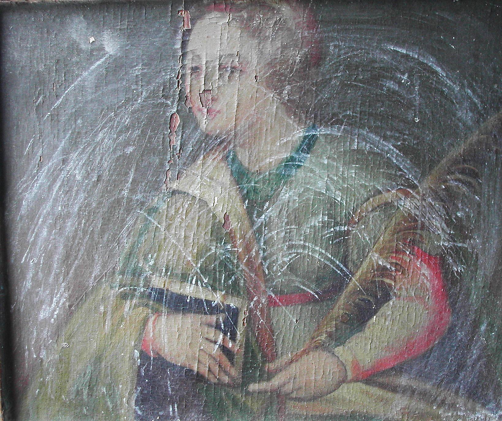 craquelado pintura tabla
